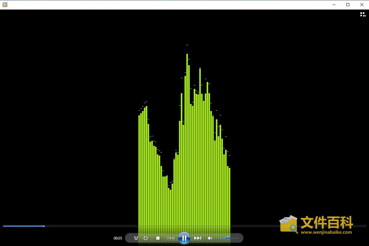 在Windows Media Player打开的WAV文件