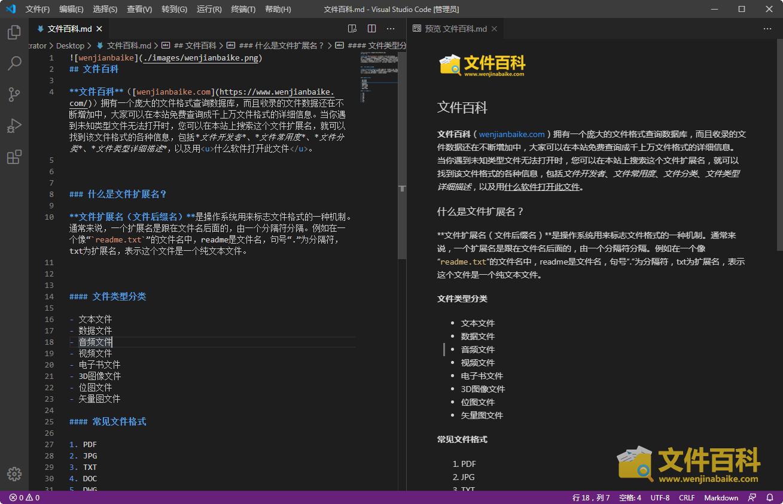 在VScode打开的Markdown文件