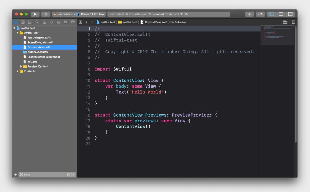 在Xcode中编辑的SWIFT文件