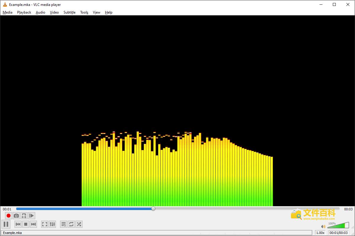 VLC media player播放的MKA音乐