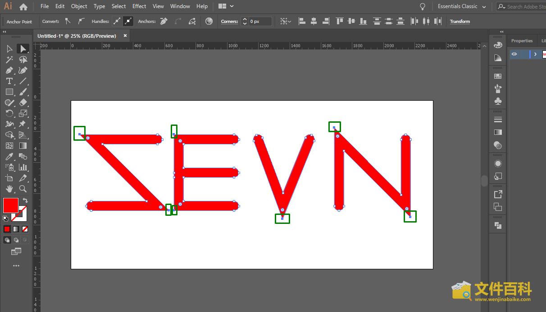Adobe Illustrator中打开的CGM文件