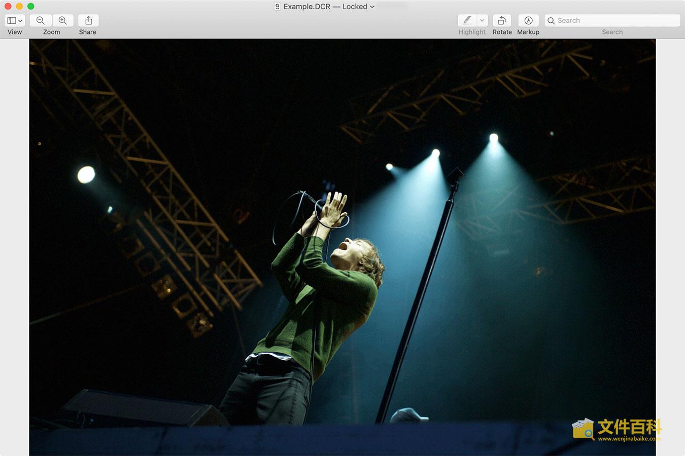 Mac 预览打开DCR图片