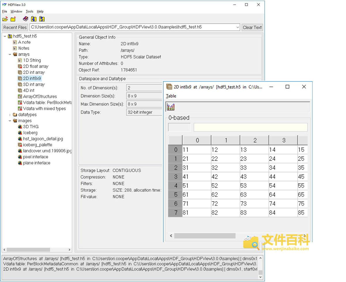HDFView打开的H5文件