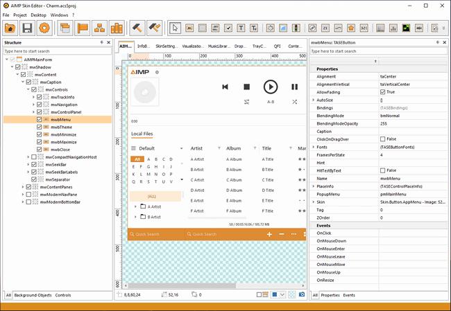 在AIMP Skin Editor编辑的ACS3皮肤文件