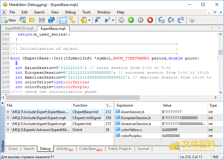 MetaEditor打开的MQH文件