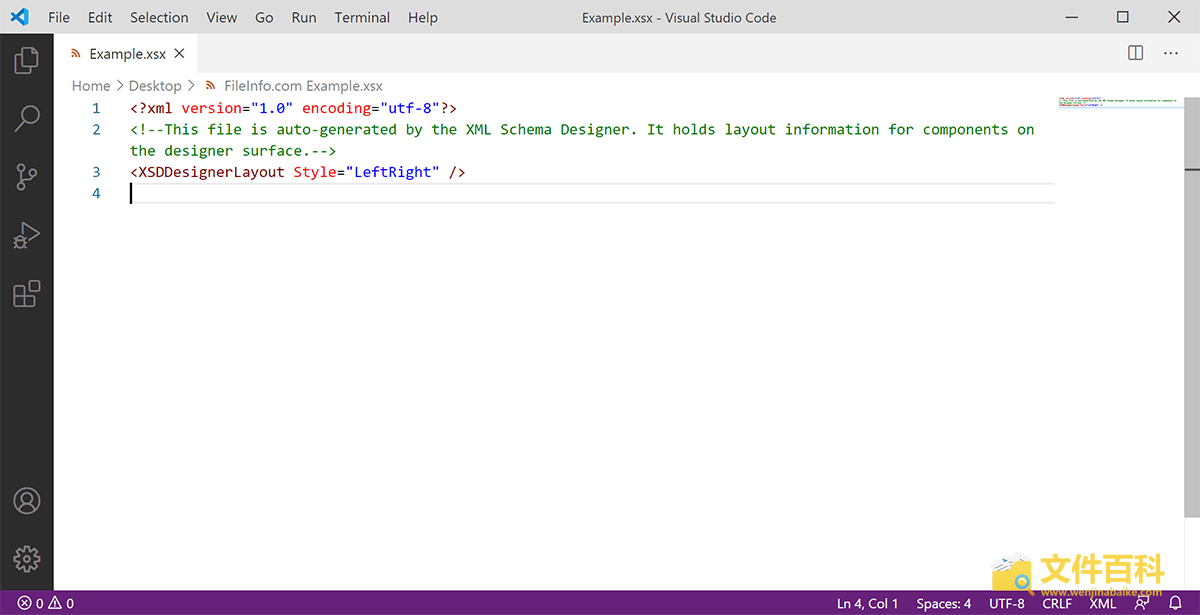 Visual Studio Code打开的XSX文件